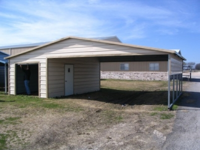 Triple combination for Carport shop combo