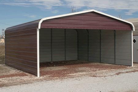 3 Sides Covered Metal Buildings Carports Aluminum Garages