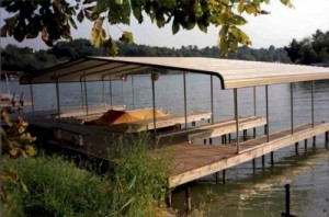 Boat ports metal buildings carports aluminum garages for Boat garage on water