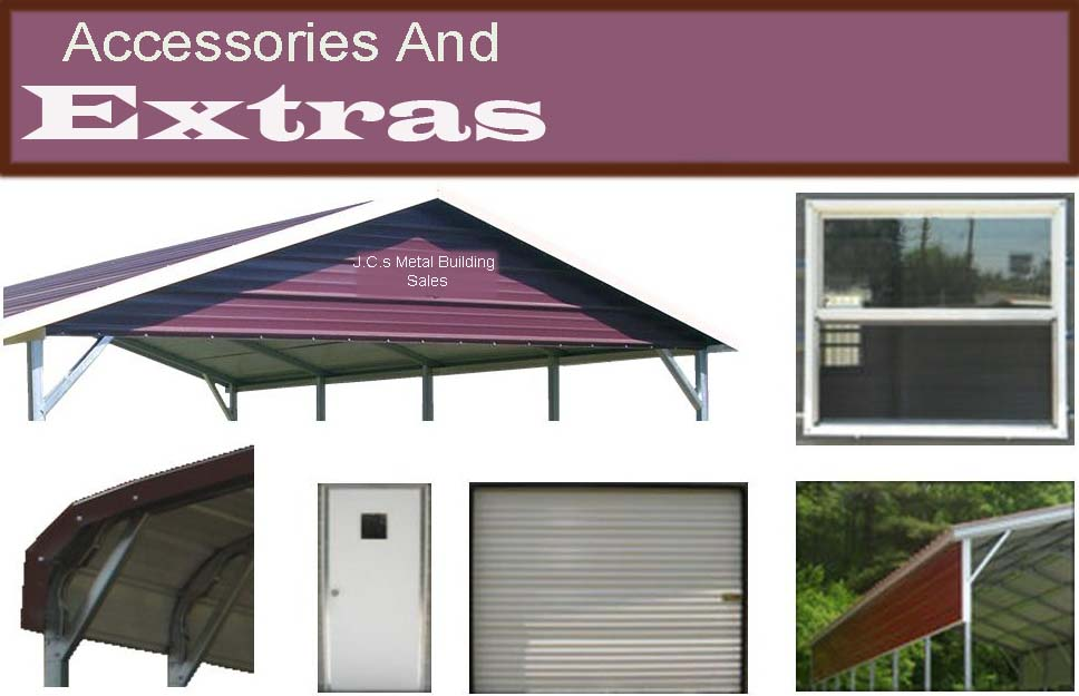 Accessories And Extras Metal Buildings Carports Aluminum