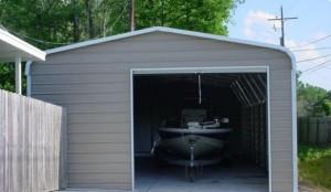 Enclosed Boat Port Metal Enclosed Carport, Boat inside. Boat Port.Aluminum Carport, Building.