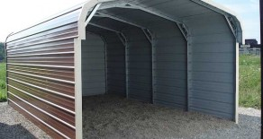 Metal Building Boat Port Carport Steel Building Standard round corners