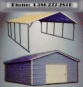 Metal Aluminum Boxed Eve Types Carports ,Garages,Buildings,Sheds,Certified