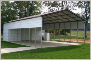 Combination Carport with Tack room