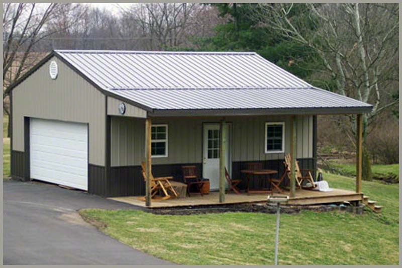 Horse Barns Garage Kits That Prefab Metal Storage Sheds