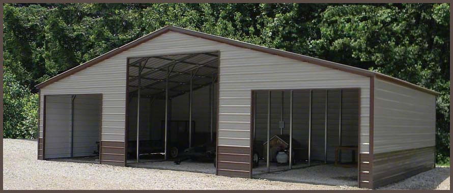 Metal Carport Cabins : Metal building two tone buildings aluminum carports